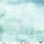 """Лист Бирюза, коллекция """"Сказки на ночь"""", односторонняя бумага для скрапбукинга, размер 30,5 на 30,5 см., плотность 190 г/м2, TEA-MOOD, BU001608"""
