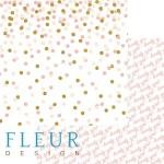 "Лист бумаги двусторонний Торжество, коллекция ""Моя леди"", 30х30 см, плотность 190 гр, Fleur design, BU001612"