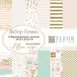 "Набор бумаги ""Моя леди"" 30,5х30,5 см, 6 двусторонних листов, Fleur design, BU001618"