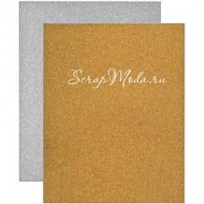 Набор глиттерной бумаги Deco sheets, 8 листов, Tim Holtz, BU001635