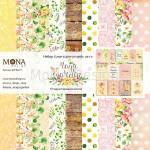 Набор бумаги Magic Garden 10 листов, плотнось 190 гр/м2, Mona Design, BU001641
