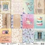 Бумага односторонняя Лист Карточек, коллекция Однажды в Париже, Mona Design, BU001643