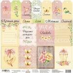 Бумага односторонняя -Лист Карточки, коллекция Magic Garden, Mona Design, BU001646