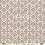 Бумага односторонняя -Дамаск серый, коллекция Базовая дамаск, Mona Design, BU001648