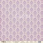 Бумага односторонняя -Дамаск сиреневый, коллекция Базовая дамаск, Mona Design, BU001649