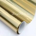 Виниловая самоклеющаяся пленка, цвет: Золото, металлизированная, размер 25x50 см. Идеально подходит для плоттеров. BU002217