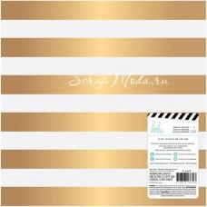 Лист веллума Gold Foil Heidi Swapp, 30х30 мм, American Craft BU001652