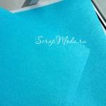 Лист кардстока с глиттером, Agua mineral, 30х30 см., American Craft, BU001656