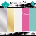 Набор бумаги Marquee Love с глиттером, 21х21 см., 1/4 набора (в наборе 5 разных цветов по 1 листу) Heidi Swapp, BU001658