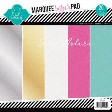 Набор бумаги Marquee Love с глиттером, 21х21 см., 1/4 набора (в наборе 5 разных цветов по 1 листу) 369629,  Heidi Swapp, BU001658