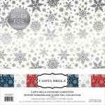 Набор Кардсток Winter Wonderland, с фольгированием,  30х30 см., 1/2 набора, Crate Paper, BU001659
