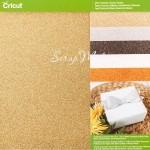 Набор глитерный кардсток, размер 30,5x30,5 см., в наборе 5  листов с глиттером. Cricut, BU001663