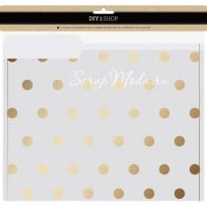 Набор папок для хранения из кальки Vellum file folders  с золотом, в наборе 3 шт., American Crafts BU001665