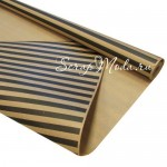 Бумага Крафт черные полоски, размер полоски черной 10 мм., ширина 70х100 см., BU001671