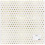 """Веллум с золотым глиттерным напылением """"Узор в горошек"""" размер 305х305 мм., Polkadot, BU001673"""