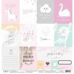 Односторонняя бумага Карточки, коллекция Хлопковые сны, размер 30.5х30.5 см, Polkadot, BU001679