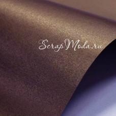 Картон дизайнерский гладкий, с перламутром, цвет: Бронза, размер 30х30см., DA000767