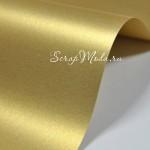 Картон дизайнерский гладкий,  с перламутром, цвет настоящее золото, размер 25х35 см., BU001685