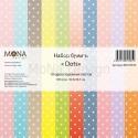 Набор бумаги Dots, 11 листов, плотнось 190 гр/м2, Mona Design, BU001691