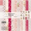 Набор бумаги Будуар, 12 листов, плотнось 190 гр/м2, Mona Design, BU001693