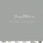 Лист Серый, односторонняя бумага, коллекция Зима, Mona Design, BU001704
