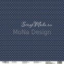 Лист Морской синий, односторонняя бумага, коллекция Зима, Mona Design, BU001705