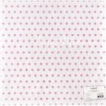 """Веллум с флоковым напылением Розовый горошек, коллекция """"Единорожки"""", 30,5х30,5 см, Polkadot, BU001708"""