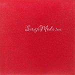 Лист кардстока с глиттером Красный, 30х30 см., American Craft, BU001721