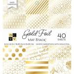 Набор бумаги Gold Foil, 15х15 см., в наборе 40 односторонних листов. DCWV, BU001724