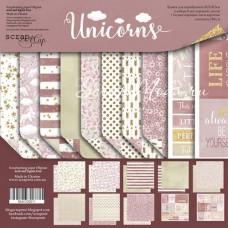 Набор двусторонней бумаги Unicorns, 30х30 см., в наборе 10 двусторнних листов, Scrapmir, BU001738