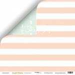 Бумага двусторонняя Бесконечность, коллекция Simple Flowers, 30х30 см., плотность 190 гр/м,  Scrapmir, BU001740
