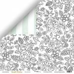 Бумага двусторонняя Настроение, коллекция Simple Flowers, 30х30 см., плотность 190 гр/м,  Scrapmir, BU001743