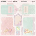 Бумага двусторонняя Конверты коллекция Little Bunny, 20х20 см., Scrapmir, BU001762
