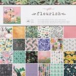 Набор бумаги Flourish, 30,5x30,5 см., в наборе 24 односторонних листов. Crate Paper, BU001765