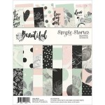 Набор бумаги Beautiful, 24 листа, 15x20 см., Simple Stories, BU001772