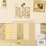 Набор бумаги Gilded Paper stack от DCWV,  1/2 набора, BU001776