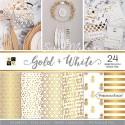Набор бумаги Gold&White от DCWV,  1/2 набора, BU001777