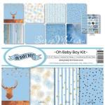 Набор бумаги Oh Baby Boy Kit, 30,5x30,5 см., Reminisce, BU001788
