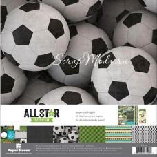 Набор бумаги AllStar soccer, 30,5x30,5 см., Paper House, BU001789