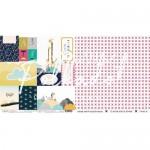 "Карточки ""В детском мире"", двусторонняя бумага, размер 30.5х30.5 см, Polkadot, BU001798"