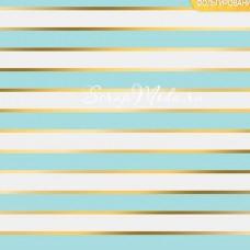 Бумага односторонняя с фольгированием Голубые полоски, размер 30,5 х 30,5 см, 180 г/м, АртУзор, BU001808
