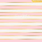 Бумага односторонняя с фольгированием Розовые полоски, размер 30,5 х 30,5 см, 180 г/м, АртУзор, BU001809