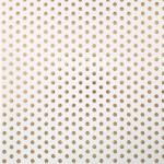 Бумага односторонняя с фольгированием Крупный горох на белом фоне, размер 30,5 х 30,5 см, 180 г/м, АртУзор, BU001810