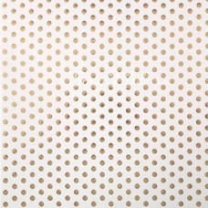 Бумага односторонняя с фольгированием Крупный горох на белом фоне, размер 30,5 х 30,5 см, 180 г/м, АртУзор, DA000799