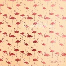 Бумага односторонняя жемчужная с тиснением Тропики размер 20 х 20см, 250 г/м, АртУзор, BU001818
