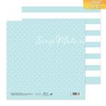 Бумага двусторонняя Голубая дымка, размер 20 х 20см, 180 г/м, АртУзор, BU001820