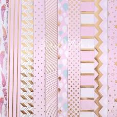 Набор бумаги односторонней с фольгированием Розовые облака, 10 листов, размер 30,5 х 30,см, 180 г/м, АртУзор, BU001826