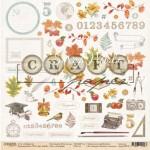 """Односторонняя бумага Сентябрь """"Моя школа"""", размер 30.5х30.5 см, Polkadot, BU001837"""