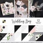 Набор бумаги Wedding Day от DCWV,  1/2 набора, в наборе 18 двусторонних листов с фольгированием золотым,  BU001840