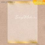 Калька декоративная с тиснением золотым Золотой ветер, размер 29,7x21 см,  АртУзор,  BU001864